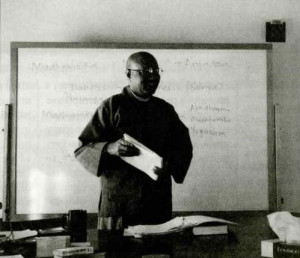 Mu Soeng Sunim teaching during the 2-week academic course in January, 1994