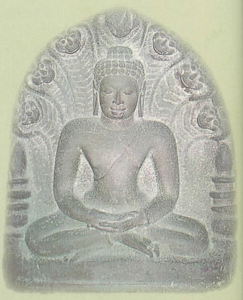 Dvaravati art - Buddha, protected by Naga. Thailand, 8 - 11th century A.D.